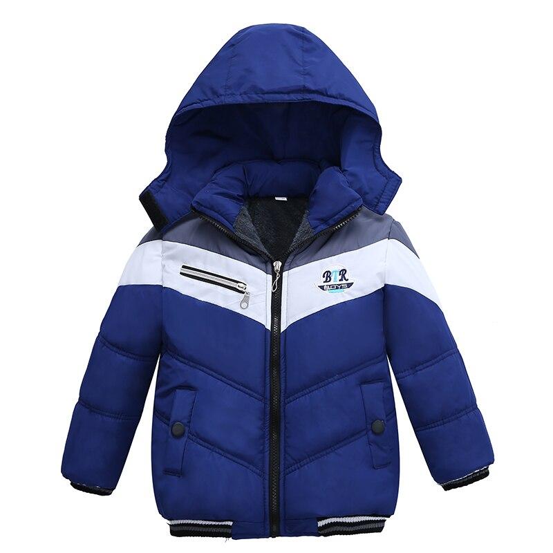 Christmas Patchwork Boys Jacket Outwear Warm Hooded Winter Jackets For Boy Girls Coat Children Parka Clothing Coat Windproof