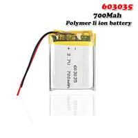 Batería recargable de iones de litio para coche, 700mAh, 3,7 V, 603035, li-po, tacógrafo, mp4, mp5, DVR, Bluetooth, auriculares, GPS
