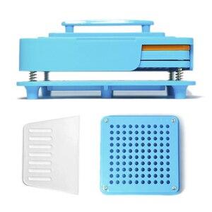 Image 4 - 100 穴カプセル充填機ほどサイズツール ABS ボード耐久性のある食品グレードマニュアル Diy の粉体高速エンキャプ製薬