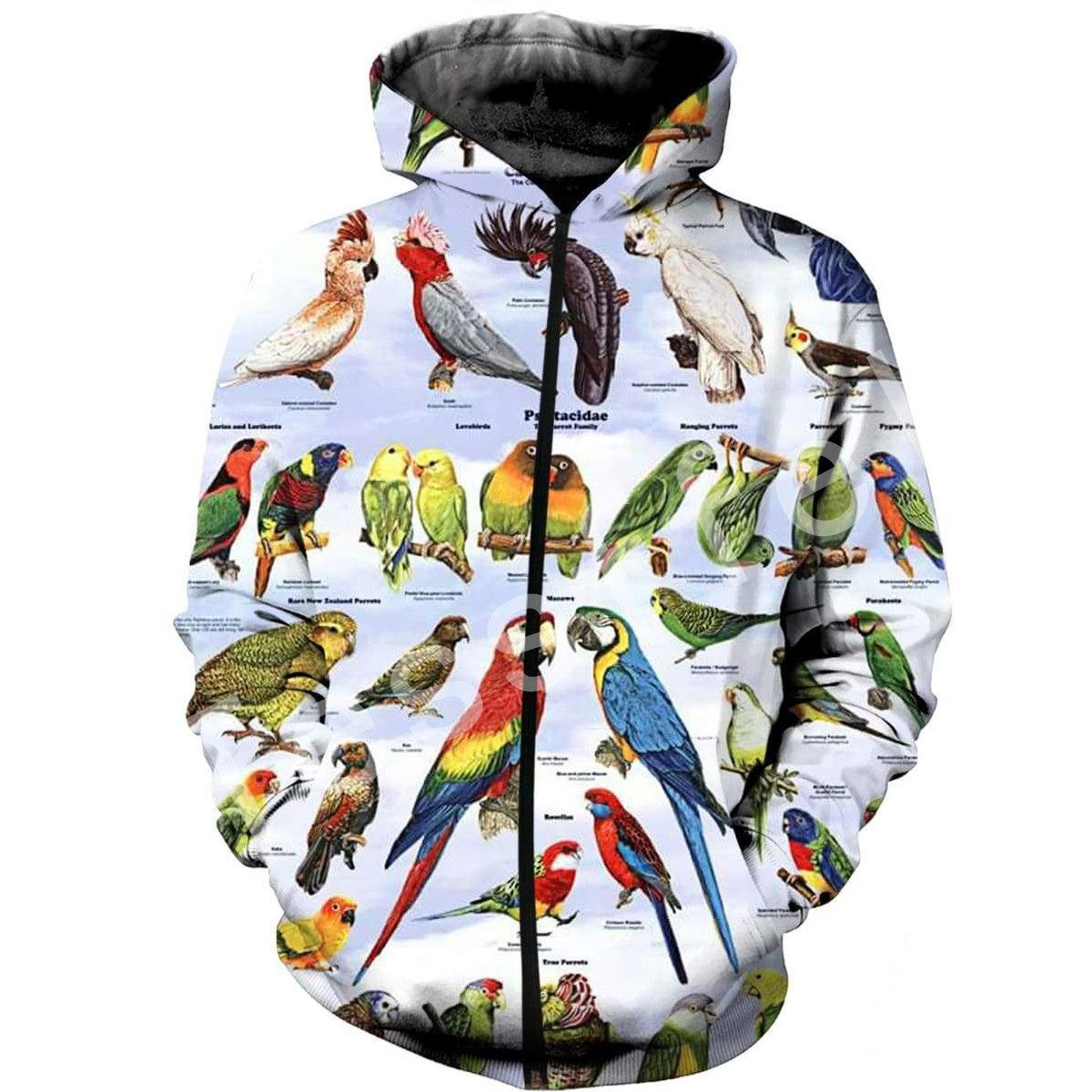 Tessffel Animal parrot Harajuku MenWomen HipHop 3Dfull Printed Sweatshirts Hoodie shirts Jacket Casual fit colorful camo Style4 in Hoodies amp Sweatshirts from Men 39 s Clothing