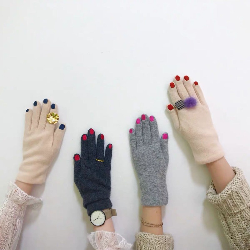 2020 New Loveliness Glove Nail Polish Gloves Embroidery To Keep Warm Fending Luxury Wool Mitten Valentines Gift Adult Gloves