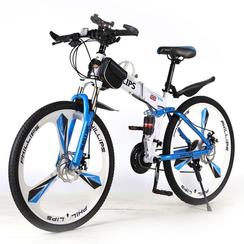Новый складной велосипед горный велосипед 26 дюймов 24/27 скорости передний и задний двойной дисковый тормоз демпфирование дорожный велосипед толстый складной велосипед горный велосипед снежный пляжный велосипед|Велосипед|   | АлиЭкспресс