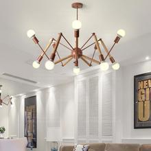 Белая деревянная люстра-паук E27 современный Лофт Скандинавская кухня люстра столовая спальня гостиная светильники для фойе 4