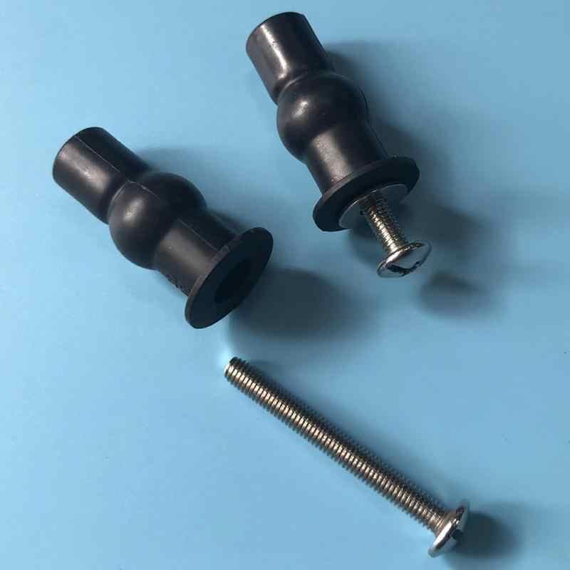 1 זוג מקצועי בית קטן מוצק אגוזי הרחבת בורג קל להתקין צירים אוניברסלי תיקון גומי למעלה אביזרי מושב אסלה