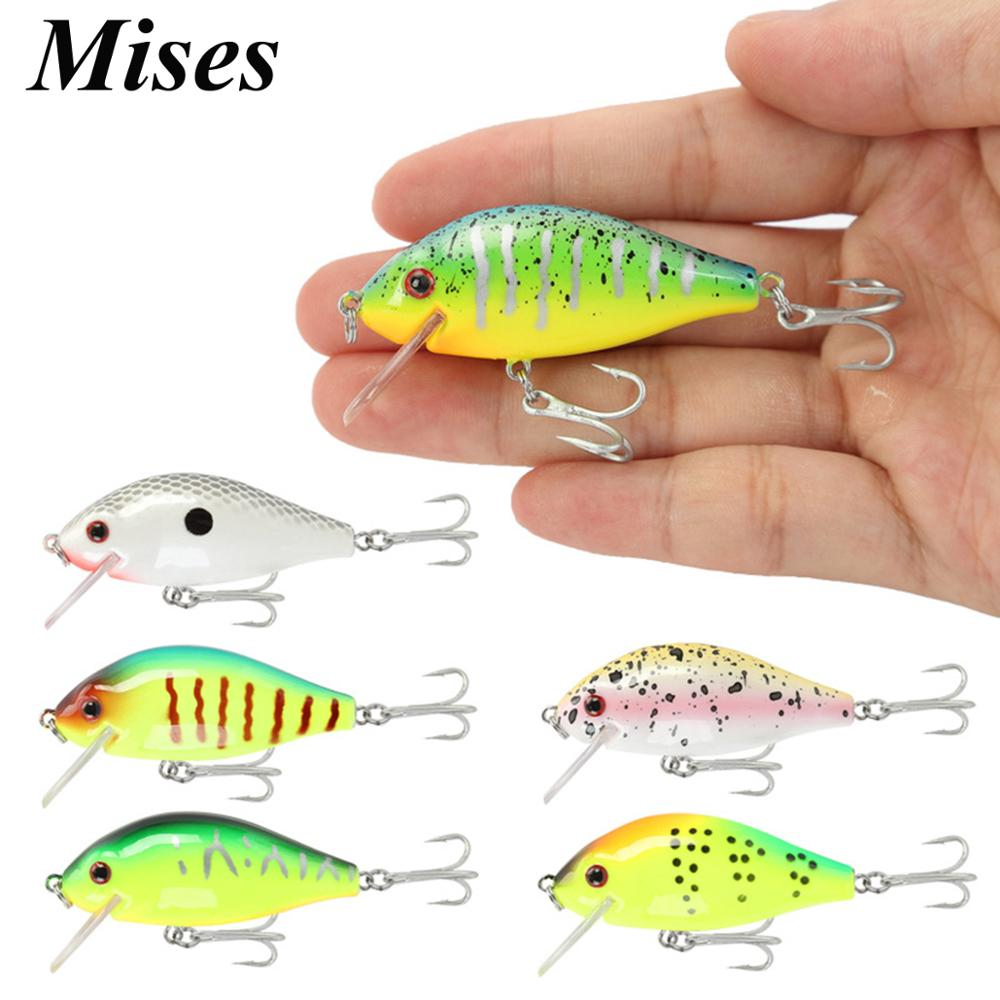 Mises 5.5cm 6g Six Colors Floating Bionic Crank Little Fatty Lure Artificial Bait Plastic Hard Bait Fishing Lure Fishing Tackles