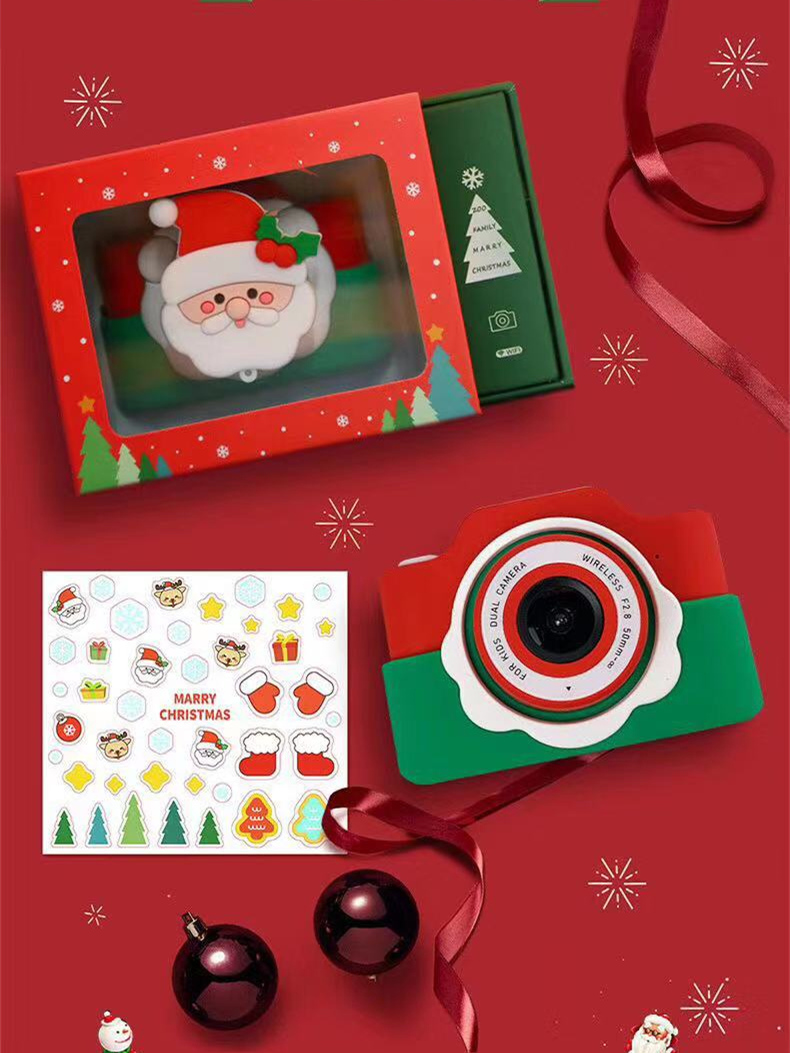 Christmas Gift Wifi Digital Camera For Children 2400W Dual Cameras 2.0'' IPS TF Card Record Video Electronic Toys For Children