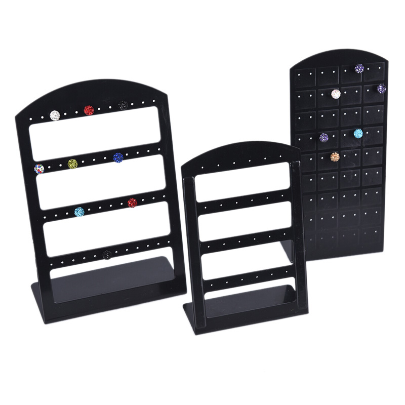 24/48/72 Holes Jewelry Display Stand Organizer Holder Plastic Earring Show Case