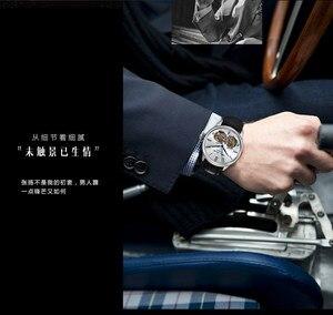 Image 5 - แบรนด์คู่อัตโนมัตินาฬิกาไพลินคริสตัล 3ATM เข็มขัดแฟชั่น flywheel นาฬิกาข้อมือชาย