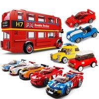 Stadt auto Bus Champions Sport Auto marke Kompatibel Alle Marken Technik Racing Auto Racers Fakten Bausteine Ziegel