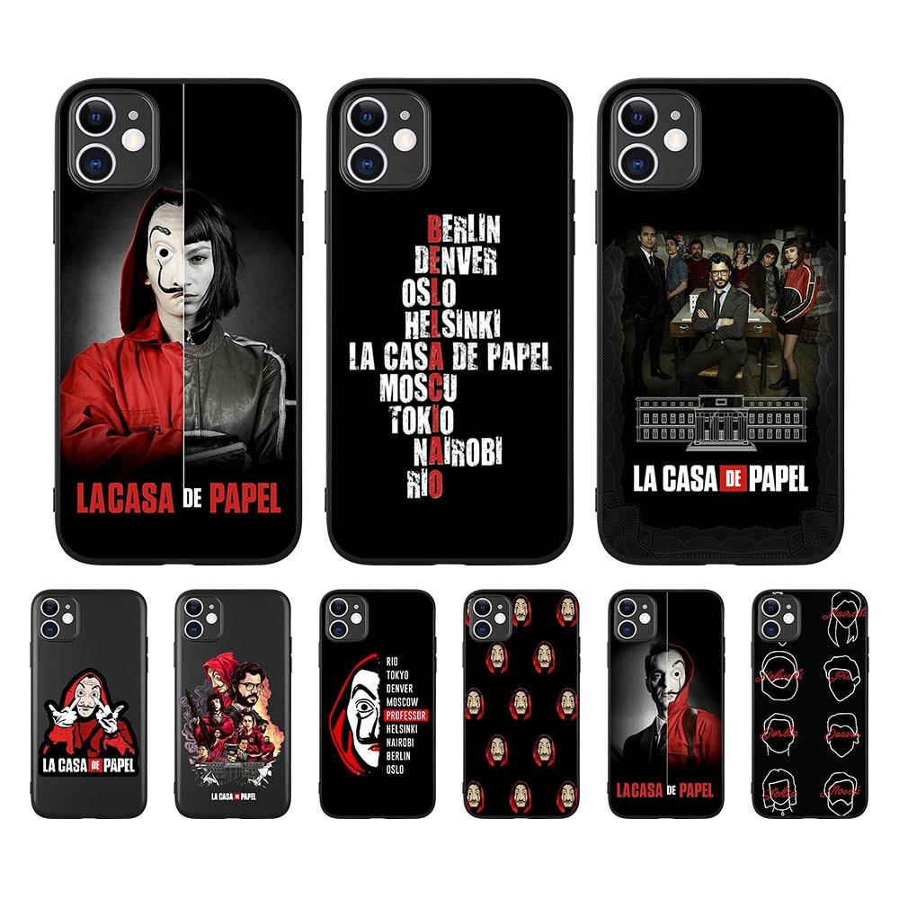 2020 Spain TV La Casa papel Money Heist House Paper TPU Case Coque For iPhone 8