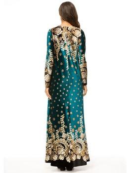 Ukraine Embroidered Velvet embroidery woman indian sari clothing Dress Plus Size Boho Muslim Robe saree