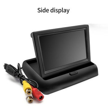 Video Input Whosale 4.3 Inch Car Monitor TFT LCD HD Digital 16:9/4:3 480*272 Screen 2 Way For Reverse Rear View Camera DVD VCD image