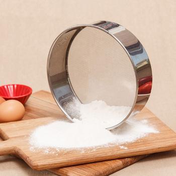 1 sztuk kuchnia z drobnymi oczkami sito do mąki okrągłe ze stali nierdzewnej sito do przesiewania mąki sitko przesiewacze oleju filtr cukru do kuchenne narzędzia do pieczenia tanie i dobre opinie CN (pochodzenie) Colanders i filtry