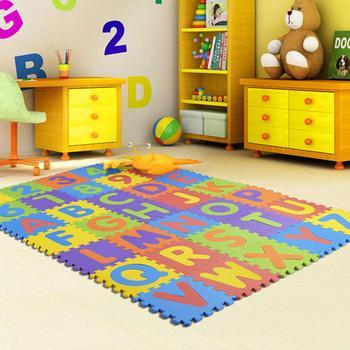 32cmx32cmx36Pcs Nonslip Puzzle Floor Mat for Kids Game Playing Random Color
