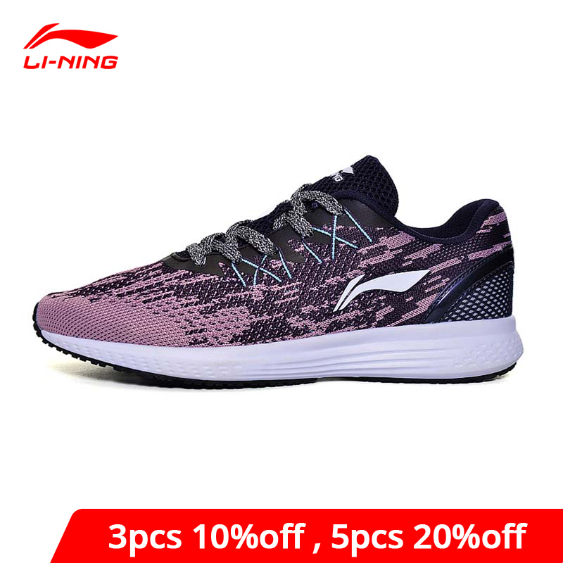 Li-Ning Women's 2017 SPEED STAR Cushion Running Shoes Breathable Sneakers Textile LiNing Li Ning Sport Shoes ARHM082 XYP472