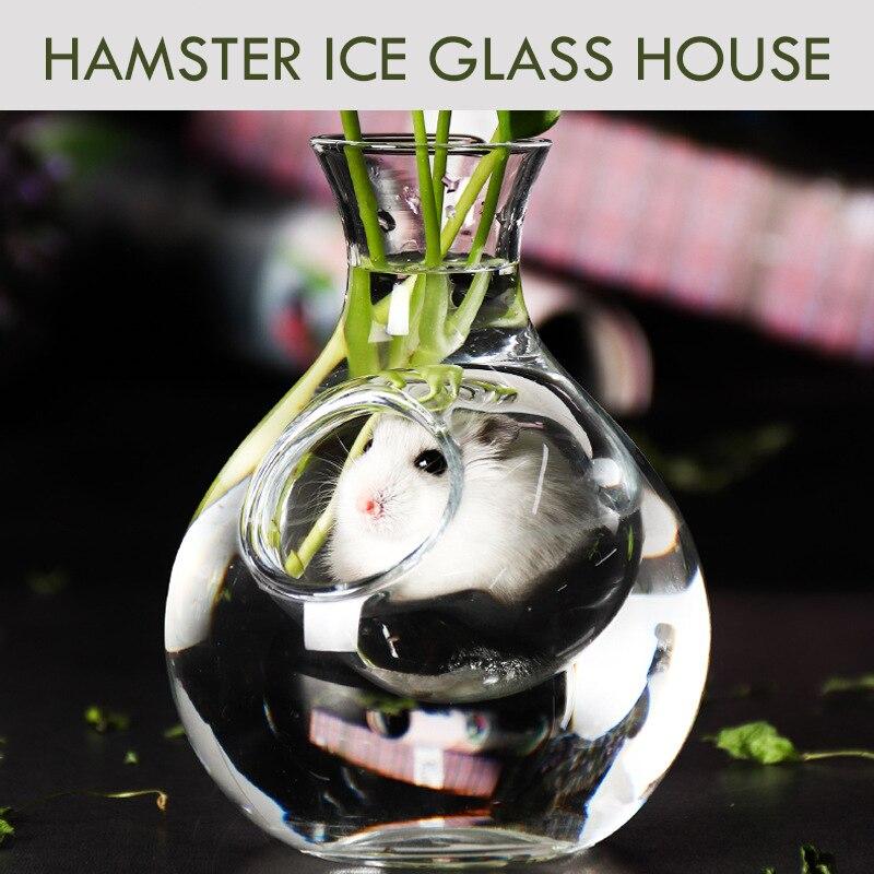 Стеклянный домик для хомяка, охлаждающая бутылка для домашних животных с более низкой температурой, прозрачная кровать для свиной крысы шиншилловой белки|Клетки|   | АлиЭкспресс
