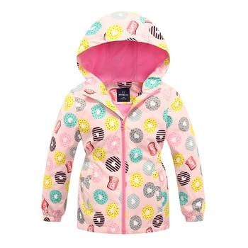 Jacket For Girls 2020 Spring Children's Flower Fleece Clothes Girls Coat Windbreaker Outerwear Kids Polar Fleece Windproof 3-12T 2