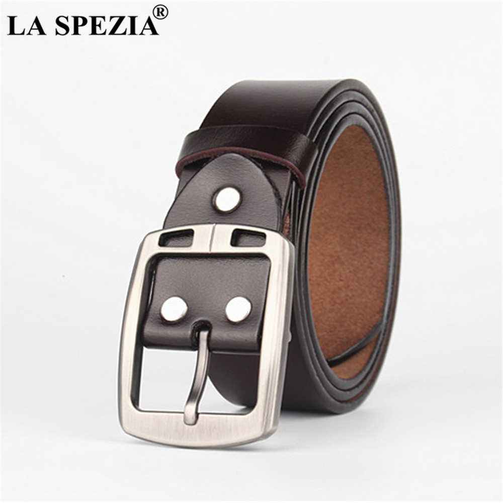 LA SPEZIA 180cm Extra Long Belt Men Oversized Genuine Leather Belt Male Brown High Quality Cowhide Plus Size Men Belt