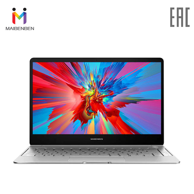 Ultra-thin notebook MAIBENBEN JinMai 6 13,3 FHD/ADS/1,3кг/14,5/Intel N4000/4 GB 128 GB SSD Intel (R) HD Graphics 600/DOS image