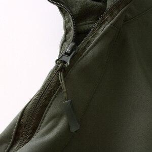 Image 2 - Mege peau de requin coquille souple militaire veste tactique hommes imperméable armée polaire vêtements Multicam Camouflage coupe vent 4XL