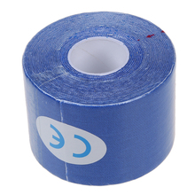 1 Roll Sports Kinesiology Muscles Care Fitness Athletic Health Tape 5M * 5CM - Navy blue