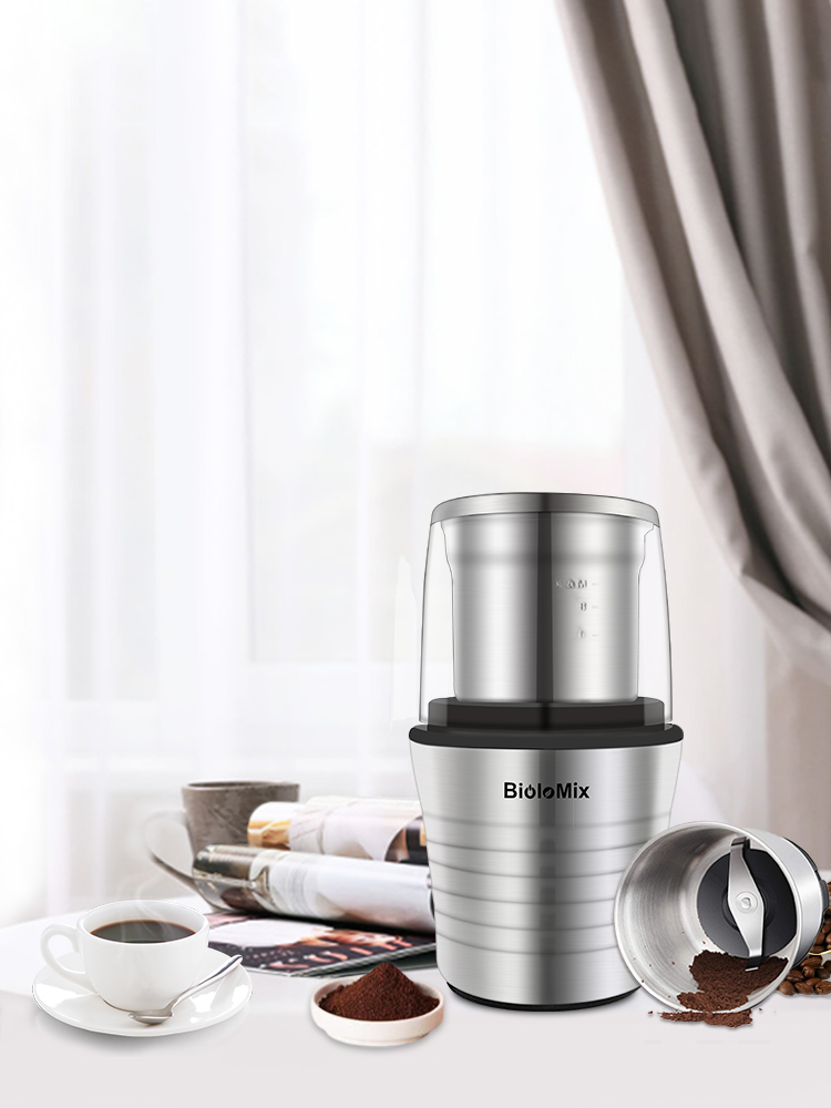 Coffee-Bean-Grinder Electric-Spices Stainless-Steel 300W Miller-Blades And Double-Cups