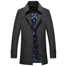 Thoshine Brand Spring Summer Men Trench Short Style Thin High Quality Buttons Male Fashion Outerwear Jackets Plus Size 7XL