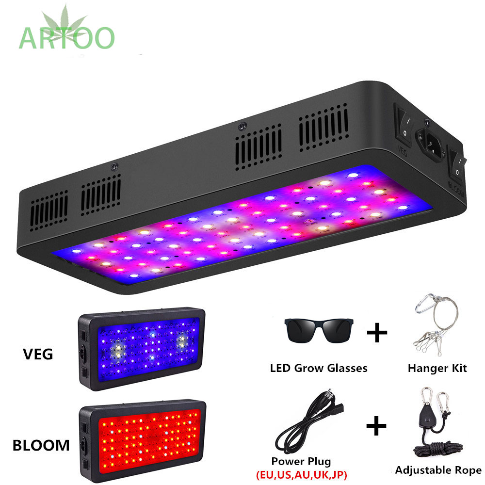 Artoo Double Switch LED Grow Light 600W/900W/1200W Full Spectrum For Indoor Greenhouse Grow Tent Phyto Lamp For Plants