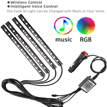 Car-Led-Light Remote-Music-Control Wireless Multiple-Modes RGB with USB