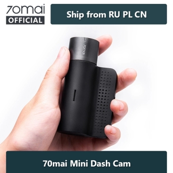 70mai Smart Dash Cam Mini International Car DVR 70mai Mini 1600HD Car Camera APP Driving Recoder 140 FOV G-Sensor Night Vision