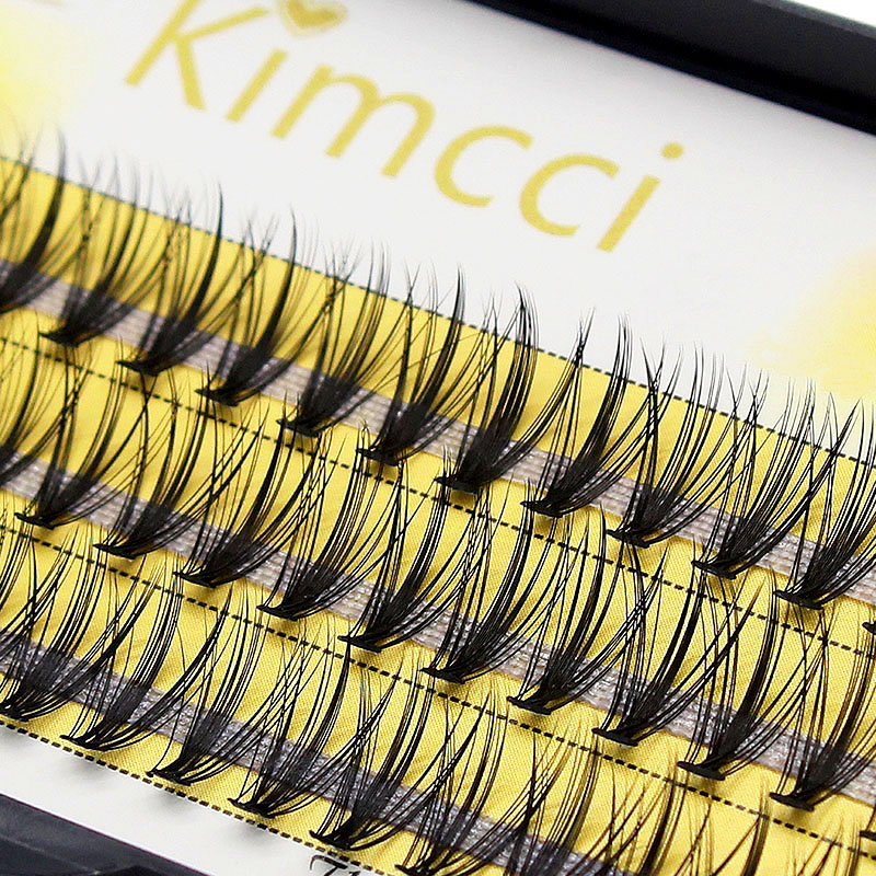 Kimcci Fashion 60pcs Professional Makeup Individual Cluster Eye Lashes Grafting Fake False Eyelashes 20D Mink 3D Volume  Effect