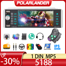 5188 1din Mp5 lecteur tactile autoradio RDS AM FM 4-usb interconnexion bidirectionnelle 5.1 pouces Support Android 10 Mirrorlink