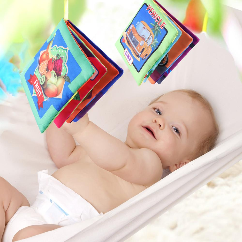 2019 New 6pcs/set Baby Cloth Book Baby Toy 0-3 Years Old Early Education Puzzle English Set Tear Not Bad Wholesale Drop Shipping