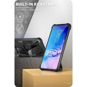 Image 2 - Pour Samsung Galaxy S20 Ultra Case/S20 Ultra 5G boîtier i blason transformateur double couche robuste pare chocs avec béquille intégrée