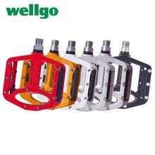 Wellgo MTB 2แบริ่งที่ปิดสนิทเหยียบจักรยานสำหรับBmxจักรยานเสือภูเขากว้างแมกนีเซียมอัลลอยจักรยานเหยียบMG 1