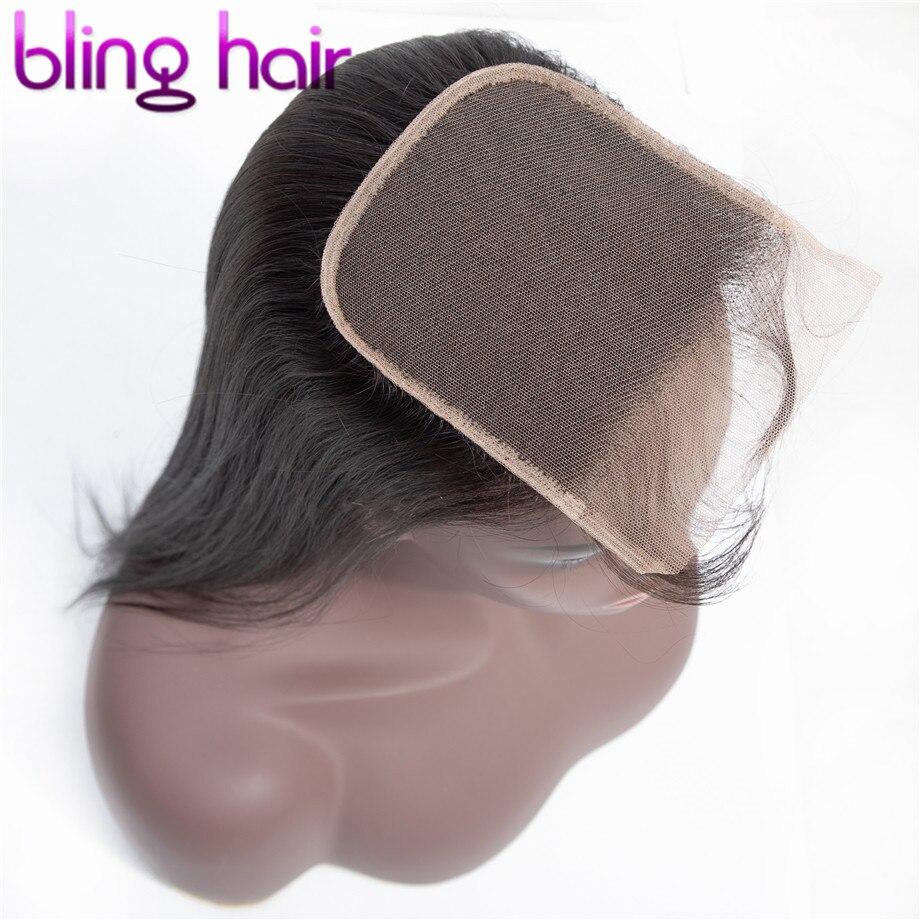 Шикарные волосы 4x4, Кружевные бразильские прямые человеческие волосы на застежке с детскими волосами, бесплатная часть, натуральный цвет, ...
