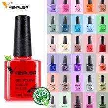 Venalisa 7,5 ml Nagel Gel Polnisch 60 Farben Kostenloser Versand Top Verkaufen Für Nail art Maniküre Top Coat Soak Off emaille UV Gel Lack