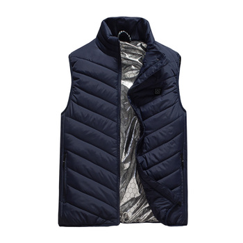 USB Heating Vest Jacket Men Sleevless Slim Fit Windproof stand collar Hiking Heater Clothes For Mens