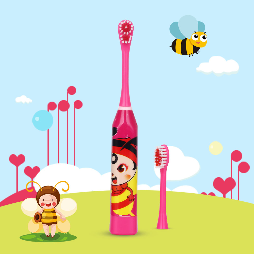 AZDENT Children Music Sonic Electric Toothbrush Kids Student Boy Girl Cartoon Ultrasonic Toothbrush Dry Battery Teeth Brush CE image