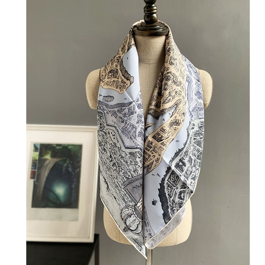Women 100% Silk Scarf Shawl Popular Type And Colors