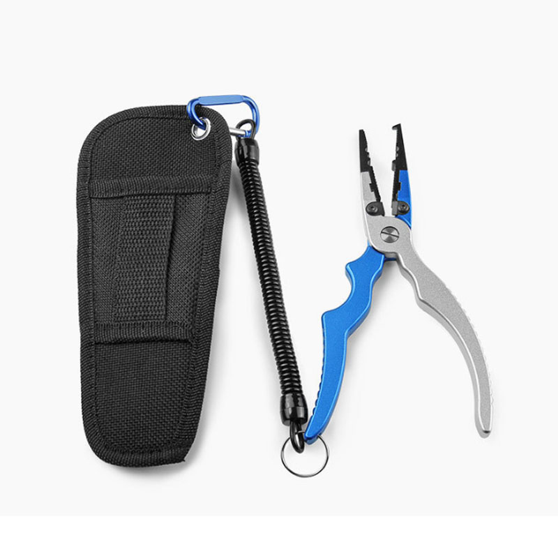 Tungsten Steel Blade Fishing Plier Scissor Multifunctional Angler Pliers Hook Remover Line Cutter Lure Tackle Grip Split
