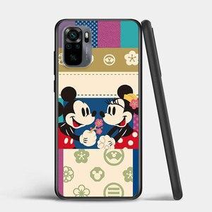 Image 4 - Mickey and Minnie cute for Xiaomi Redmi Note 10 10S 9 9T 9S 9Pro Max 8T 8Pro 8 7 6 5 Pro 5A 4X 4 Soft Black Phone Case