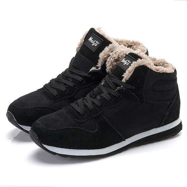 Men Shoes Winter Sneakers Suede Leather Tenis Trainers Mans Footwear Warm Winter Shoes Basket Homme Mens Shoes Casual Plus Size 1
