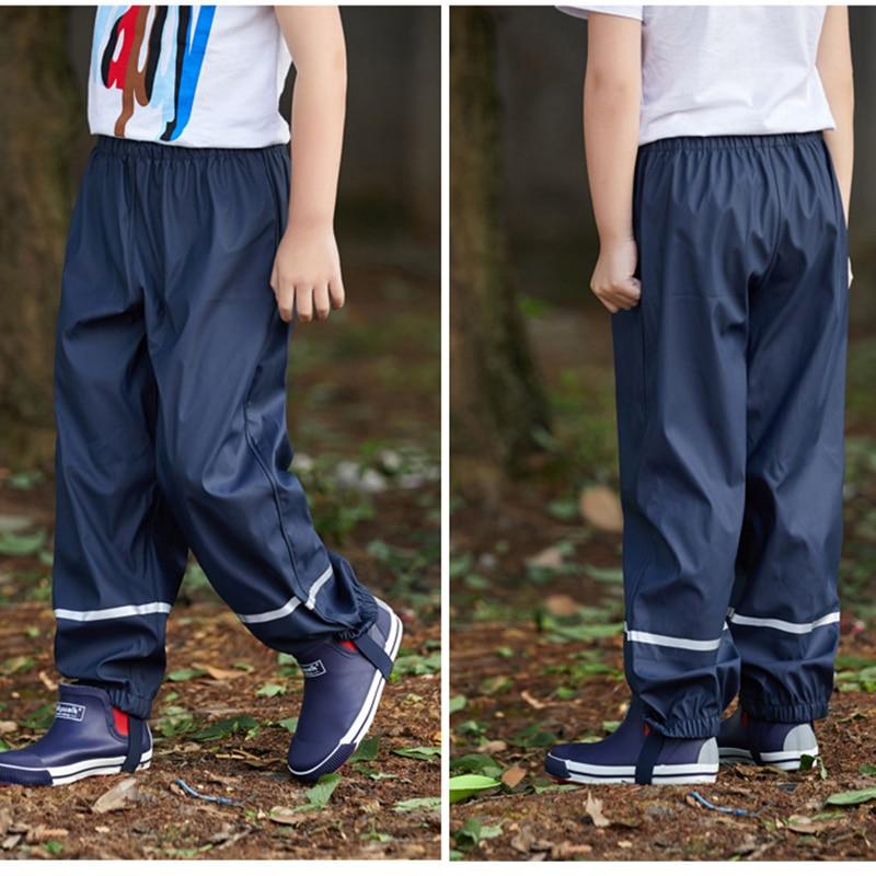 Весенние водонепроницаемые брюки для девочек и мальчиков, детская одежда, брюки, детские Непродуваемые дышащие уличные брюки из искусствен...