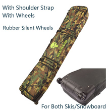 Cushion Snowboard-Bag/skis-Bag Clothing Wheels/padded 146-166cm A0310 Thick Camouflage