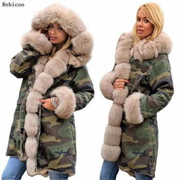 Brand New Style Big Wool Collar Winter Coat Women Clothes Warm Thick Loose Coats Casual Hooded Long Sleeve Jacket Coat Female 8