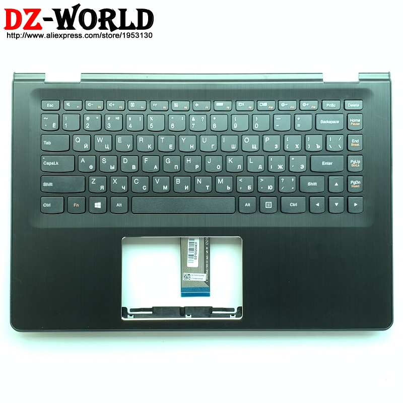 New Palmrest Upper Case With RU Russian Keyboard For Lenovo Ideapad Yoga 500-14IBD ISK IHW Flex 3-1470 Laptop C Cover 5CB0J34007