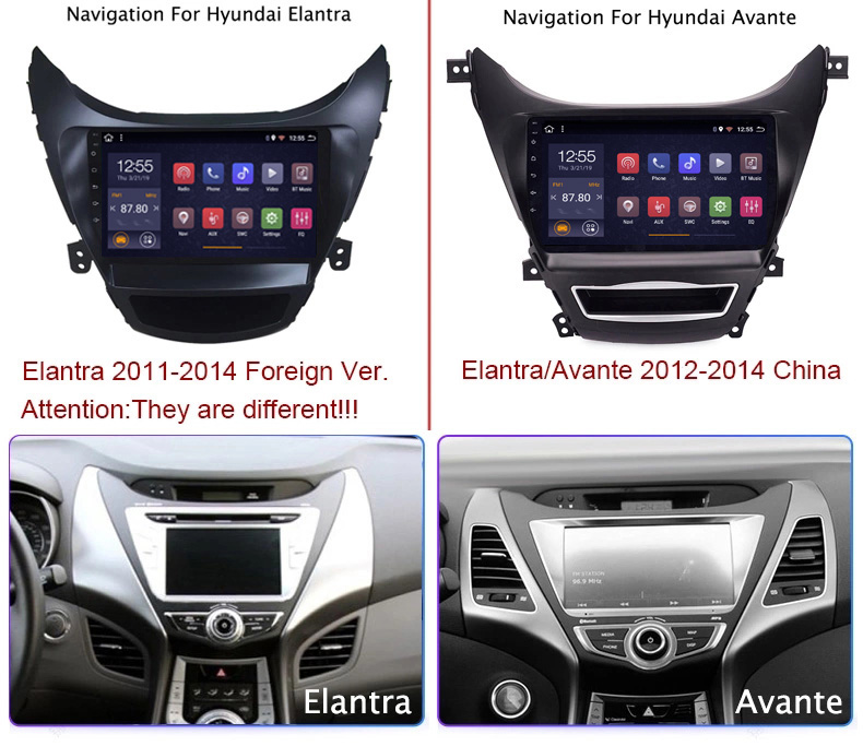 Wan qi 2G RAM 32G ROM 9 pulgadas Android 8,1 para Hyundai Elantra 2011-2013 Corea Radio de coche gps de navegación con Playstore - 3