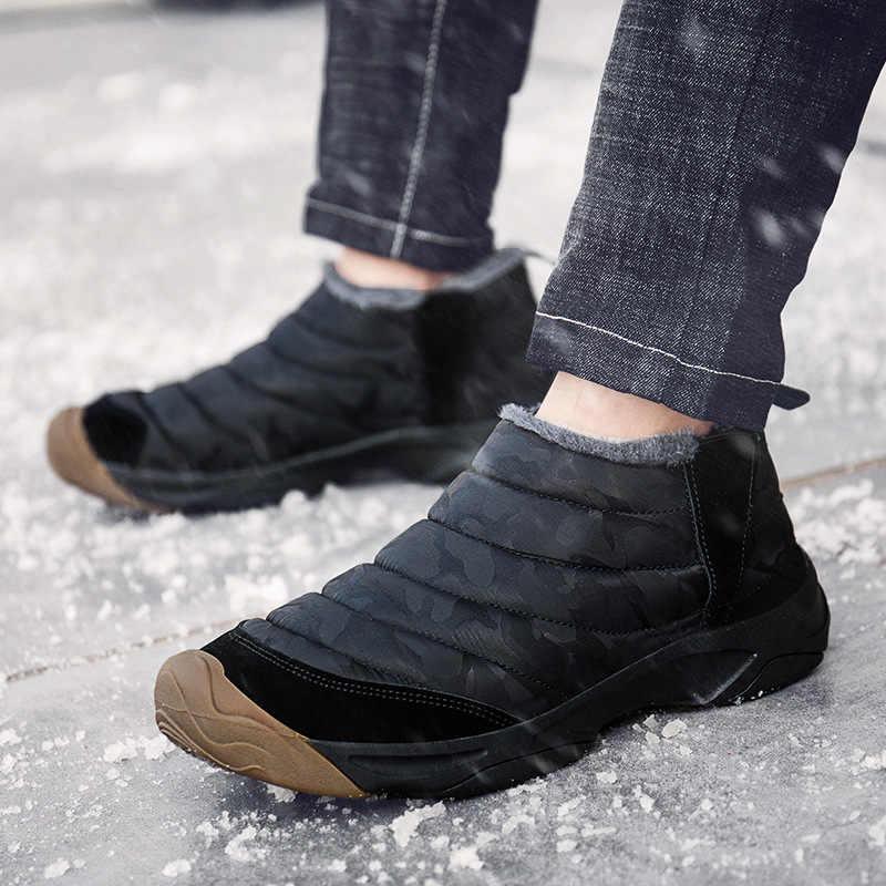 W nowym stylu północne zimowe wysokie buty ocieplane bawełną 46 buty w dużych rozmiarach młodzieżowe ciepłe zimowe buty szczotkowane i grube 48 jardów śniegowce