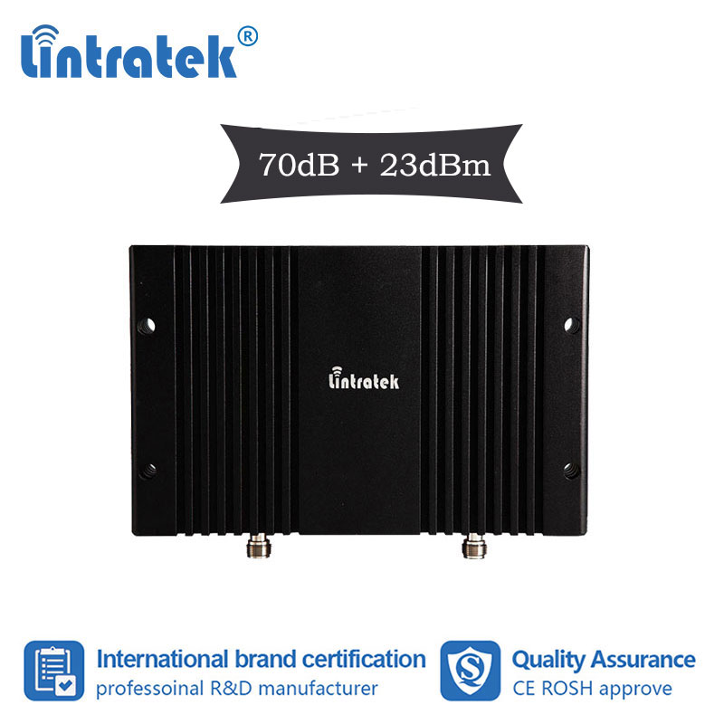 Lintratek 70dB 23dbm Powerful 3g WCDMA 2100mhz B1 UMTS Cellular Booster Signal Repeater 2100 3G With AGC Data Voice Amplifier S7